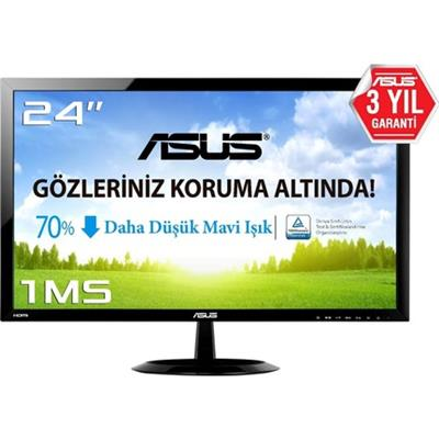"Asus Asus VX248H 24"" 1ms (Analog+DVI+2xHDMI) Full HD Led Monitör Monitör"